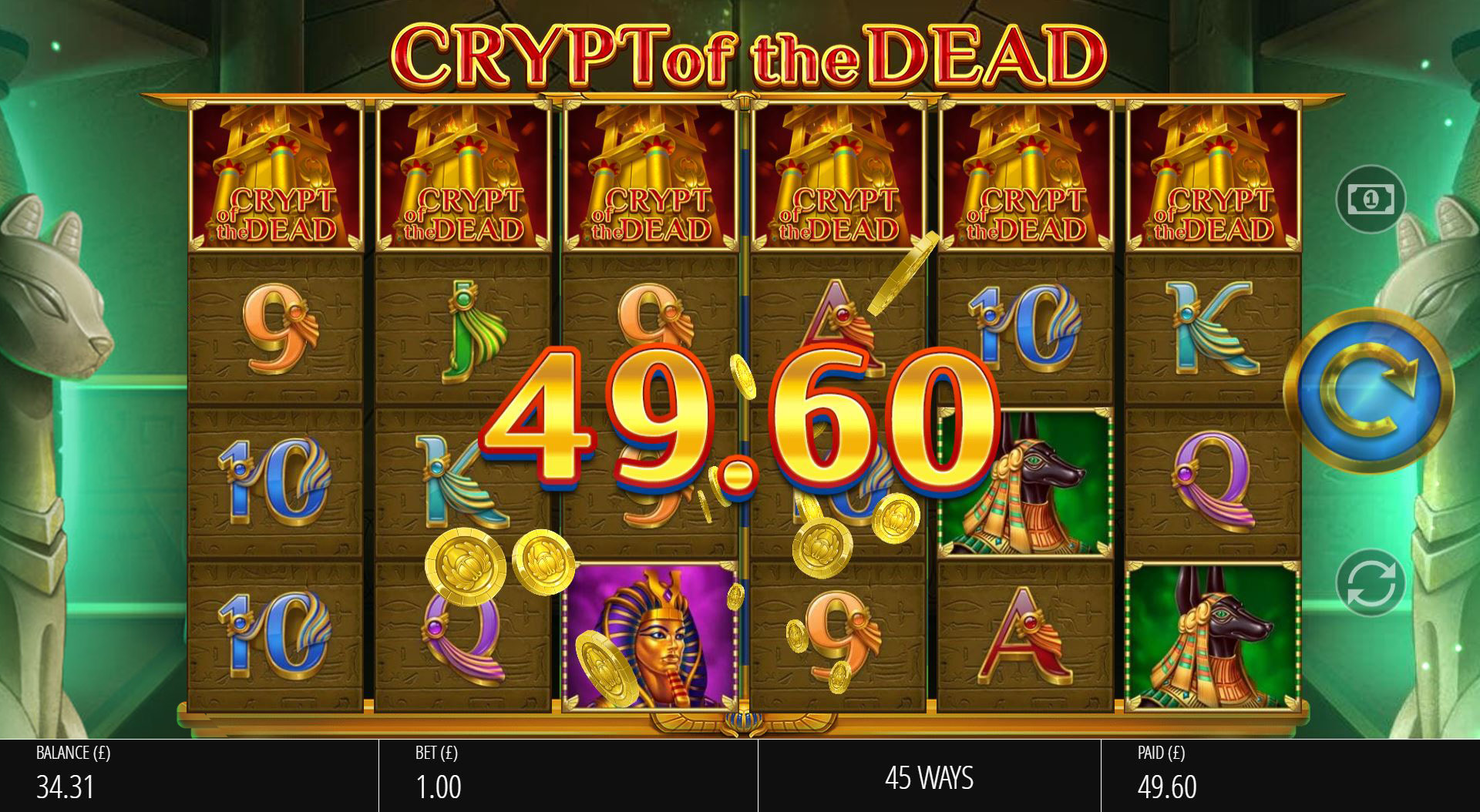 Crypt of the Dead - Base Big Win