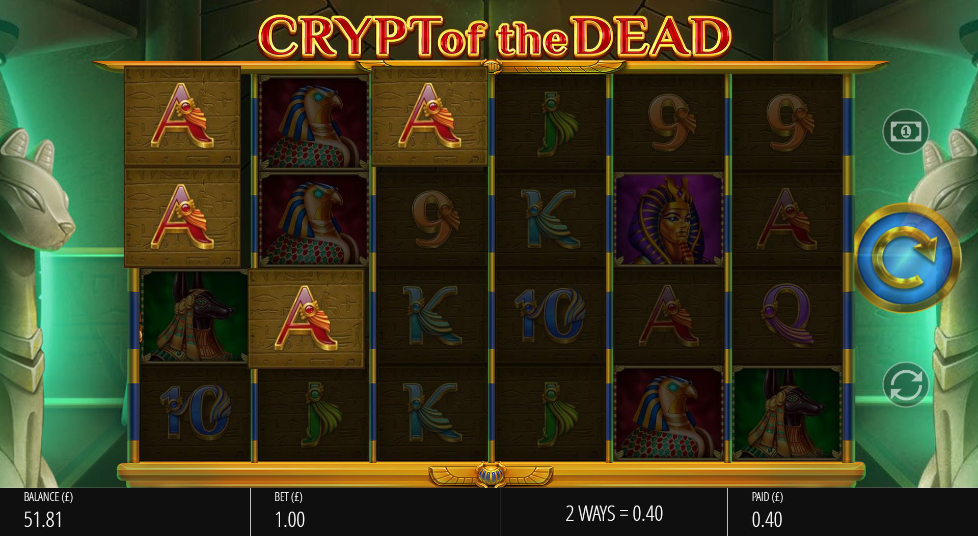 Crypt of the Dead - Base Win