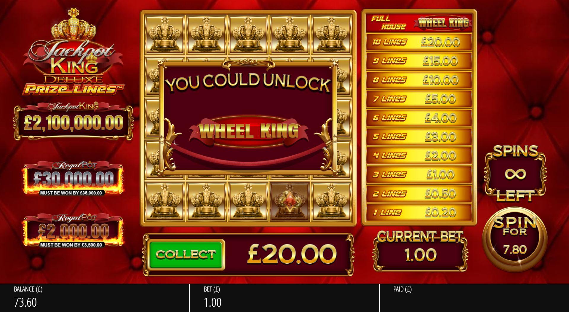 Jackpot King Prize Lines - Base04