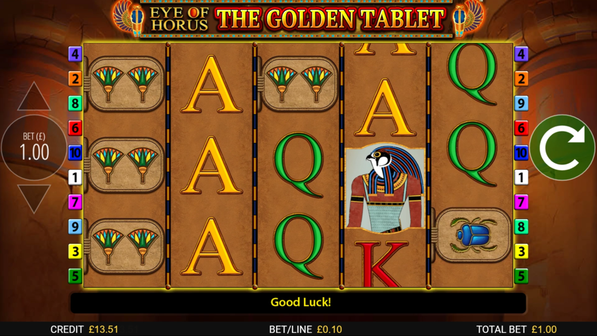 EYE OF HORUS THE GOLDEN TABLET